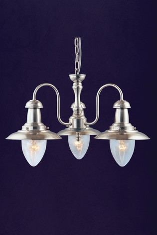 Dover 3 Light Seeded Glass Shade Ceiling Light by Searchlight