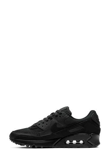 Nike Black Air Max 90 Trainers