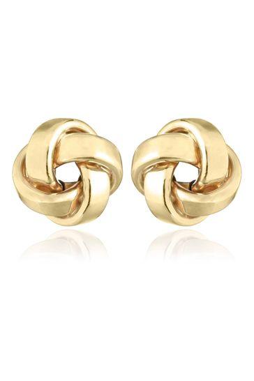 Beaverbrooks 9ct Knot Stud Earrings