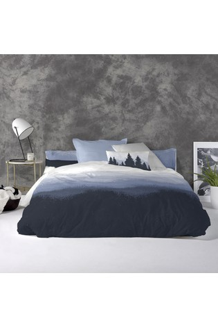 Happy Friday Nightfall Cotton Duvet Cover and Pillowcase Set