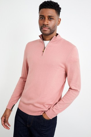 White Stuff Allder Quarter Zip Neck Jumper
