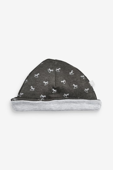The Little Tailor Grey All Over Print Rocking Horse Jersey Hat