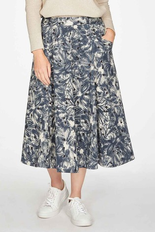 Thought Blue Kinsley Pleat Skirt