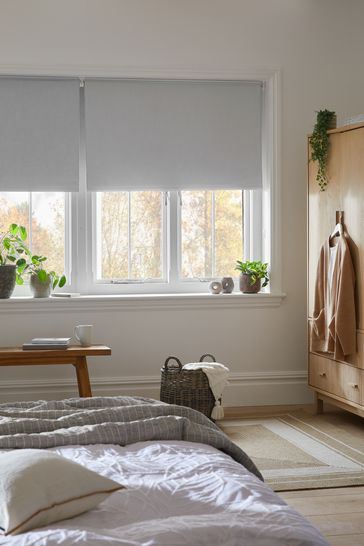 Grey Textured Blackout Blind