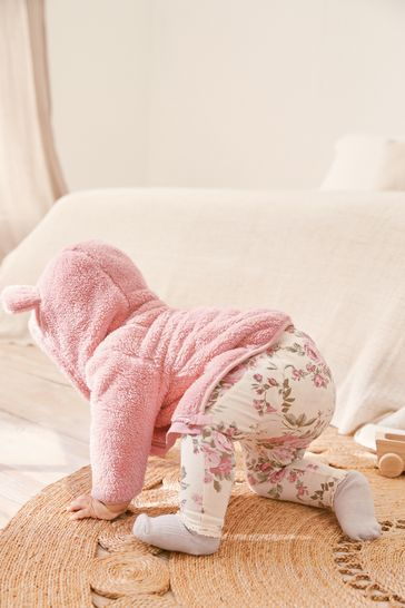 Pink Fleece Hooded Jacket (0mths-2yrs)