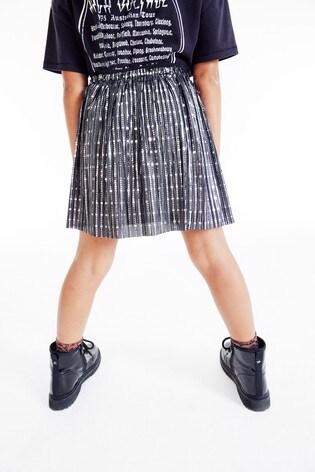 Silver/Black Foil Skirt (3-16yrs)