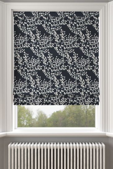 Albion Navy Blue Made To Measure Roman Blind