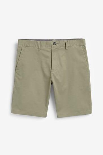 Light Khaki Slim Fit Stretch Chino Shorts