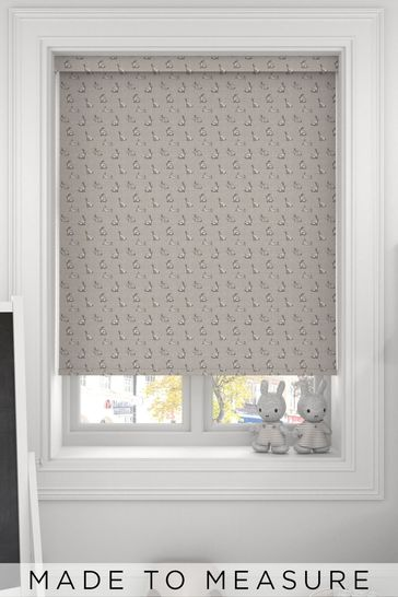 Bunnies Grey Made To Measure Roller Blind