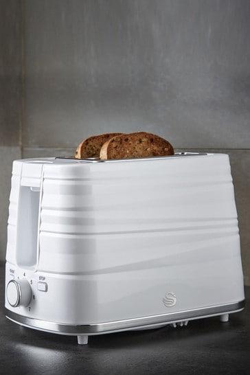 Swan Symphony White 2 Slot Toaster