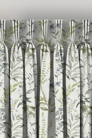 Ellis Fern Green Made To Measure Curtains