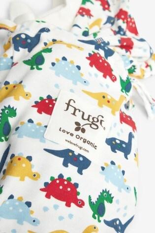 Frugi White Dinosaurs Organic Cotton 4 Piece Gift Set