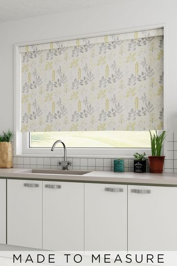 Claythorne Mimosa Yellow Made To Measure Roller Blind