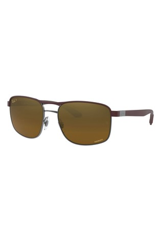 Ray-Ban® Brown Round ORB3660 Sunglasses