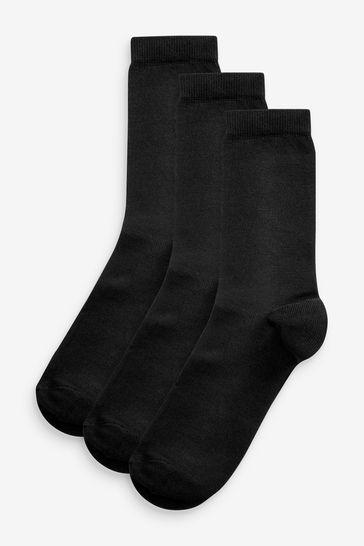 Black Ankle Socks Three Pack