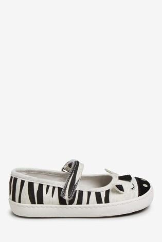 Mono Zebra Mary Jane Pumps (Younger)