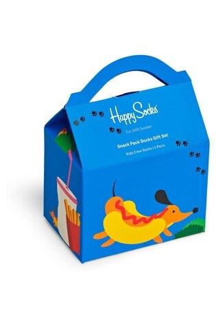 Happy Socks Kids Snack Box 4 Pack Gift Box