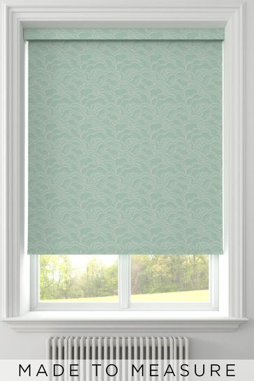 Clouds Teal Green Made To Measure Roller Blind