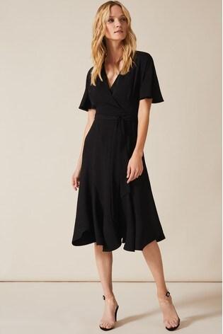 Phase Eight Black Elena Panelled Dress
