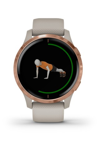 Garmin Venu Hybrid Smartwatch With AMOLED Display Light Sand With Rose Gold Hardware