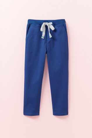 Crew Clothing Blue Slim Chinos With Knitted Waistband