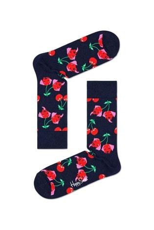 Happy Socks Womens Cherry Dog Socks