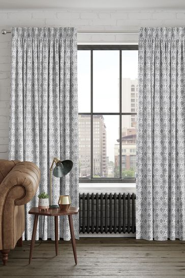 Hallam Silver Made To Measure Curtains