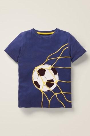 Boden Blue Sports Appliqué T-Shirt
