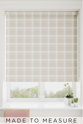 Cosy Check Blush Pink Made To Measure Roller Blind