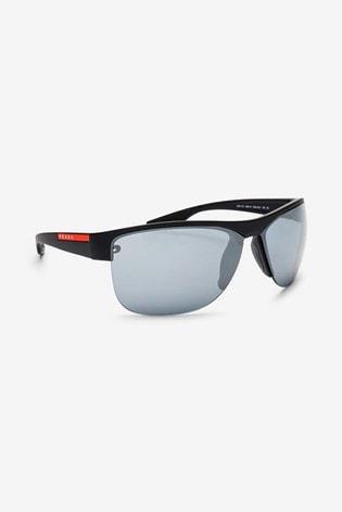 Prada Sport Black Rimless Sunglassses