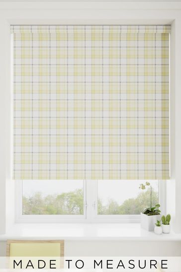 Cosy Check Yellow Made To Measure Roller Blind