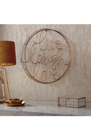 Live Laugh Love Metal Art by Art For The Home