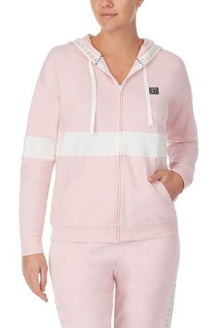 DKNY Pink Long Sleeve Sleep Hoodie