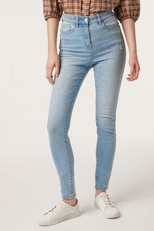 Bleach High Waist Authentic Skinny Jeans