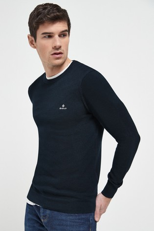 GANT Cotton Pique Crew Neck Sweater
