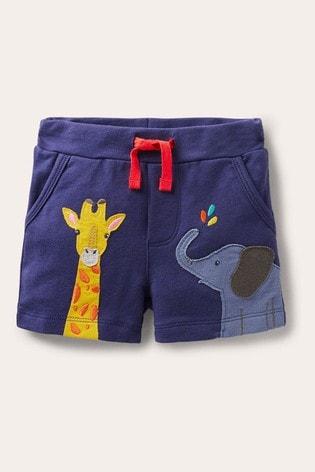 Boden Blue Essential Jersey Shorts