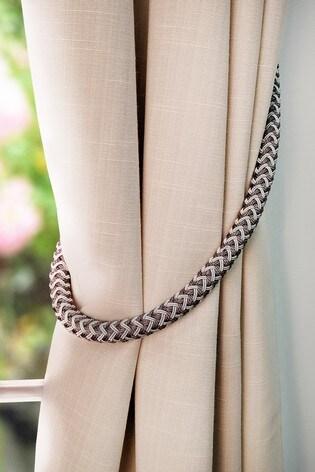 Olivia Bard Woven Tie Backs