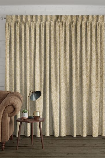 Bronte Pistachio Gold Made To Measure Curtains