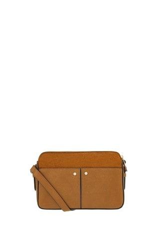 Accessorize Tan Charlotte Cross Body Bag