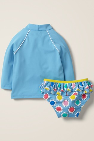 Boden Blue Appliqué Sunsafe Rash Vest Set