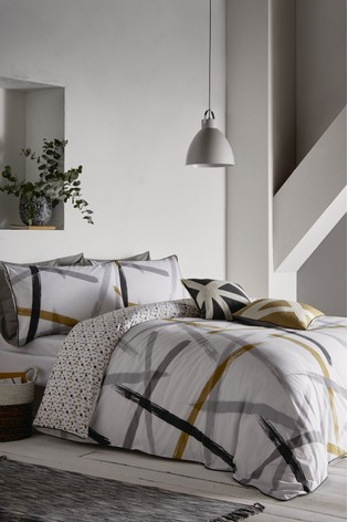 Appletree Leda Geo Piped Cotton Duvet Cover and Pillowcase Set