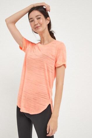 Fluro Orange Short Sleeve Sports T-Shirt