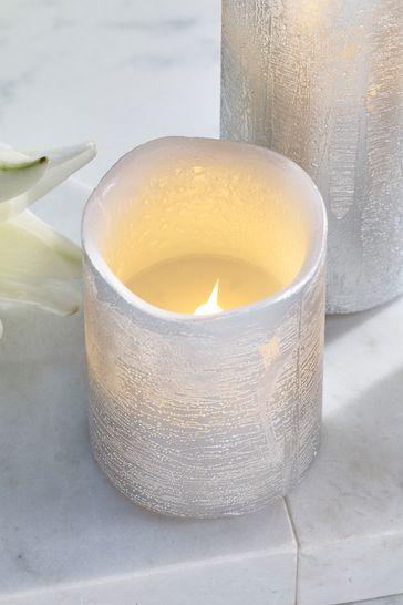 Set of 3 White Jasmine LED Candles