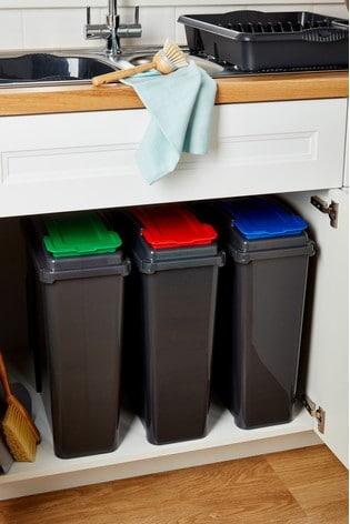Set of 3 Recycle It 25L Slimline Bins by Wham
