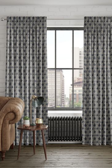 Danube Blue Hallam Made To Measure Curtains
