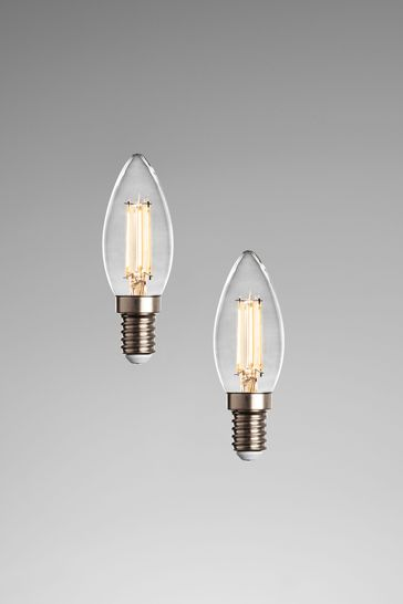 2 Pack 4W LED SES Candle Dimmable Bulbs