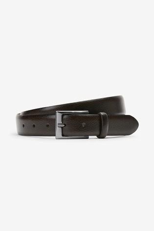 Brown Leather Pebble Grain Belt