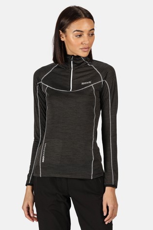 Regatta Black Womens Yonder Half Zip Fleece