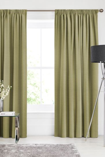 Soho Olive Green Made To Measure Curtains