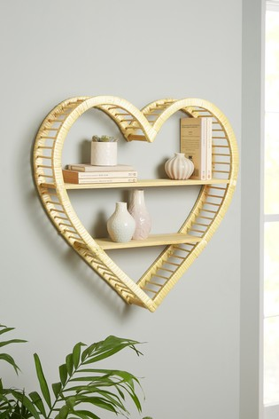 Rattan Heart Shelf